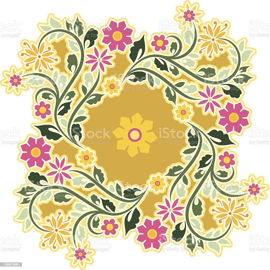 Vector Vintage Circle Ornament royalty-free stock vector art