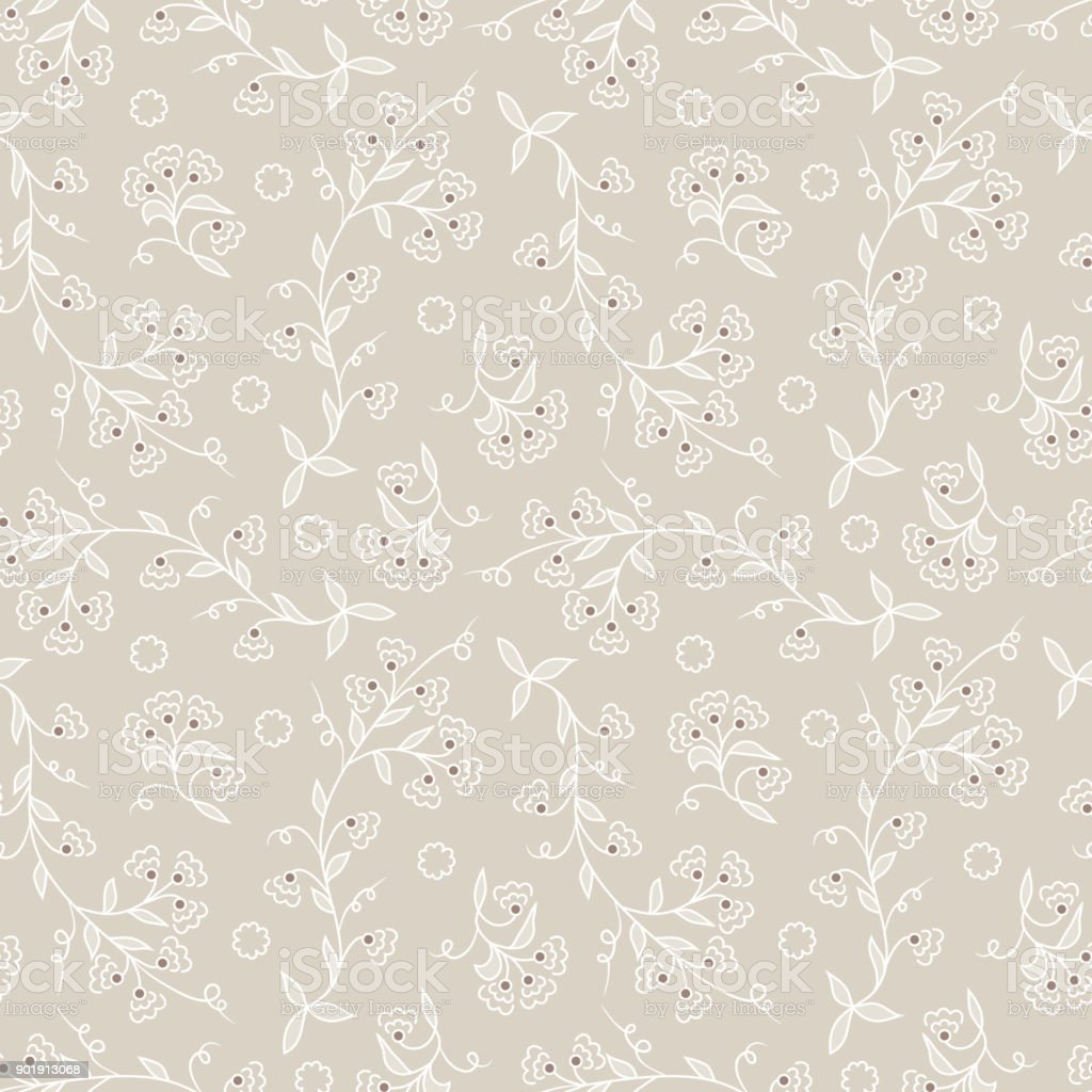 Vector Vintage Floral Pattern Flowers Background Stock