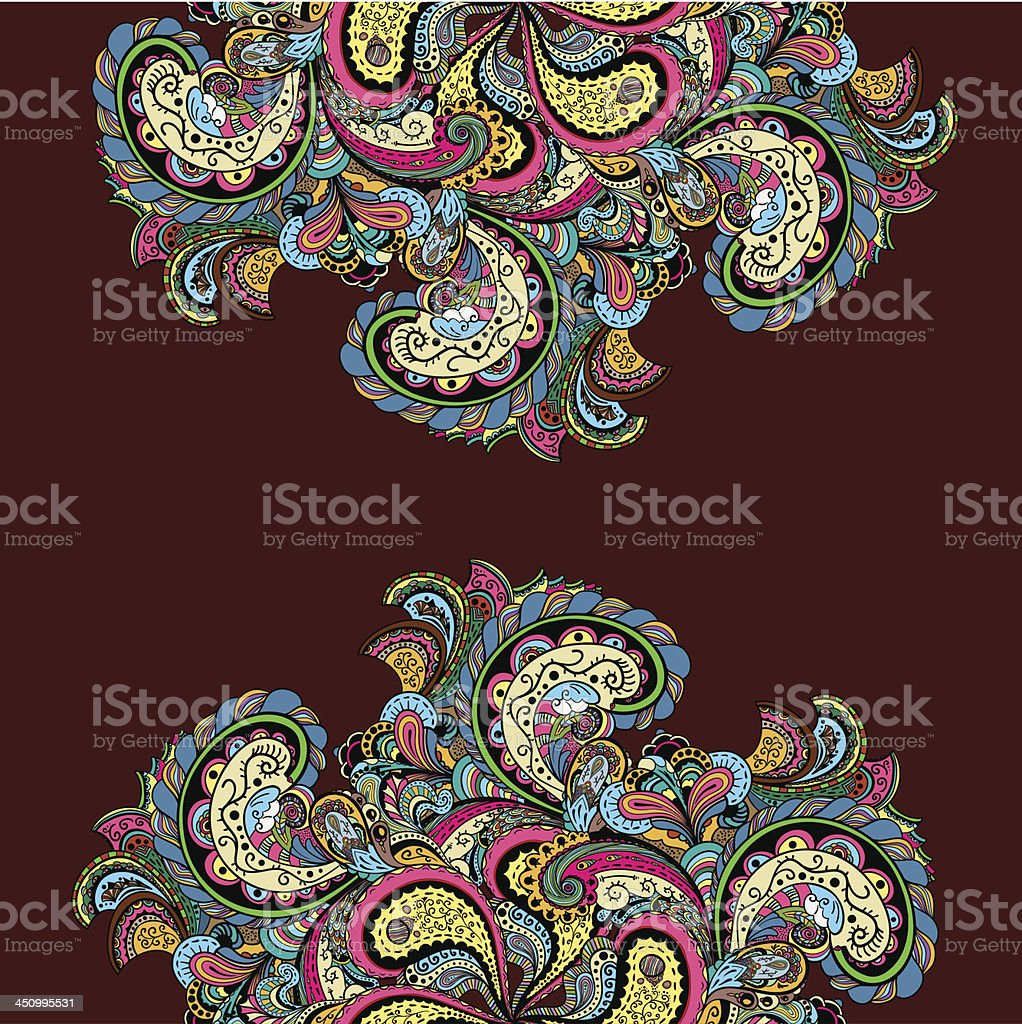 Vector vintage floral pattern royalty-free stock vector art