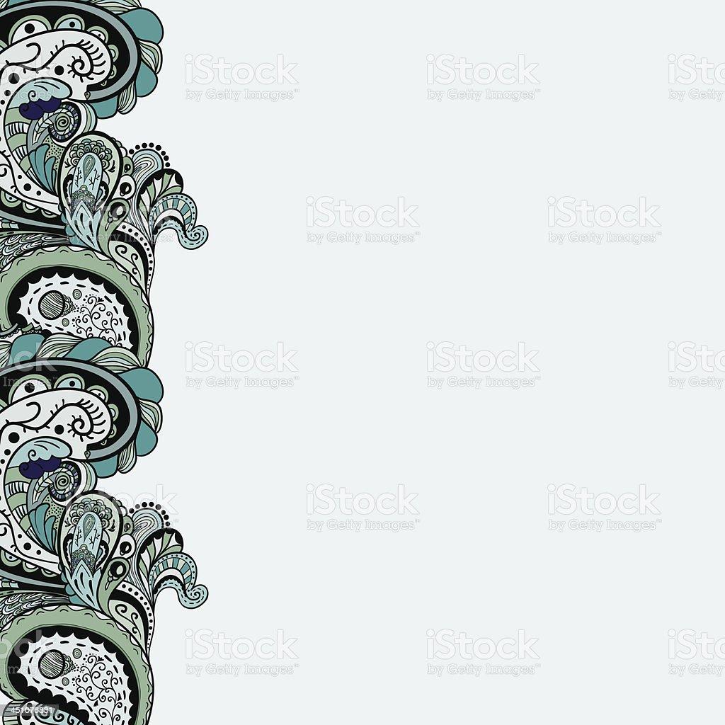 Vector vintage floral pattern royalty-free stock vector art