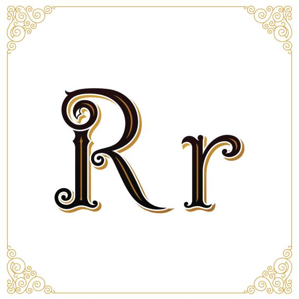 Royalty free drawing of the fancy letter r clip art vector images letter and monogram in the calligraphic style qualitative manual work vector altavistaventures Image collections