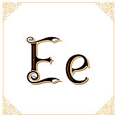 Vector Vintage Font. Letter and monogram in the calligraphic style. Qualitative manual work
