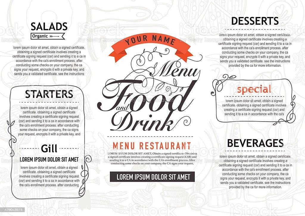 Vector vintage food design template menu restaurant brochure stock vector vintage food design template menu restaurant brochure royalty free vector vintage food yadclub Choice Image