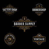 Ornate symbol template for tattoo, barber shop, beer, whiskey label.