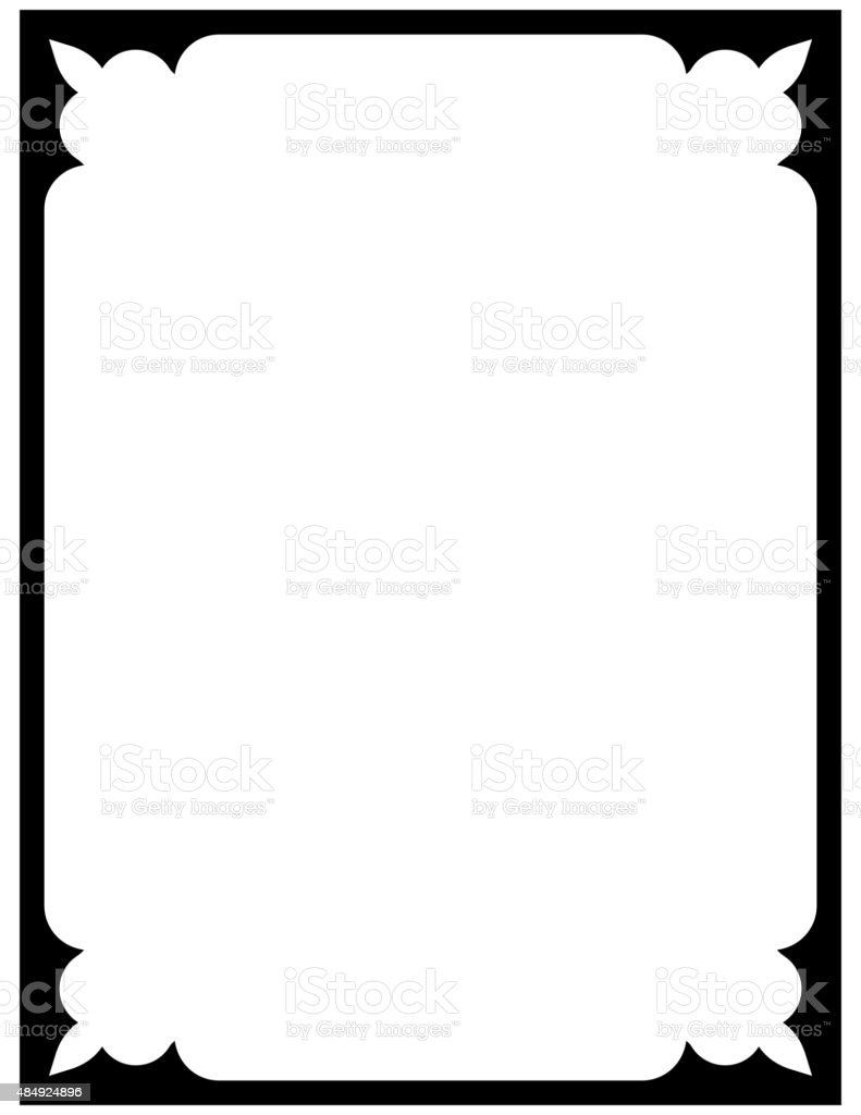 Vector Vintage Frame Isolated On White Background Royalty Free