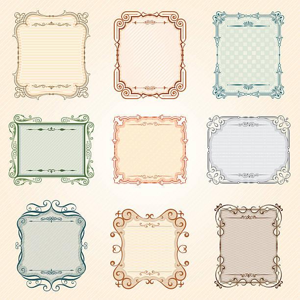 ベクトルビンテージフレームセット - ロココ調点のイラスト素材/クリップアート素材/マンガ素材/アイコン素材