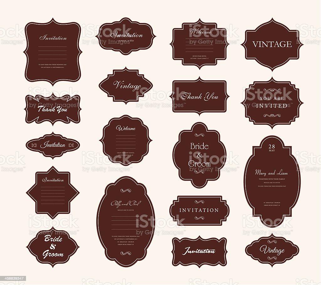 Vector Vintage Frame Set royalty-free stock vector art