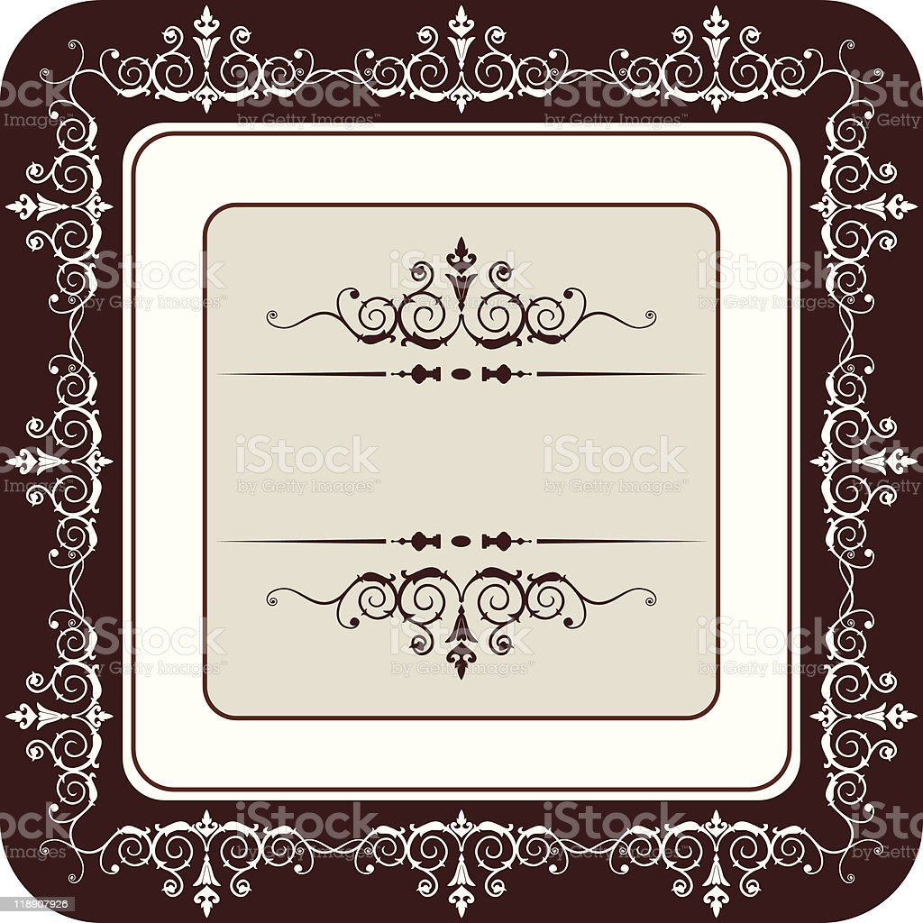 Vector vintage frame vector art illustration
