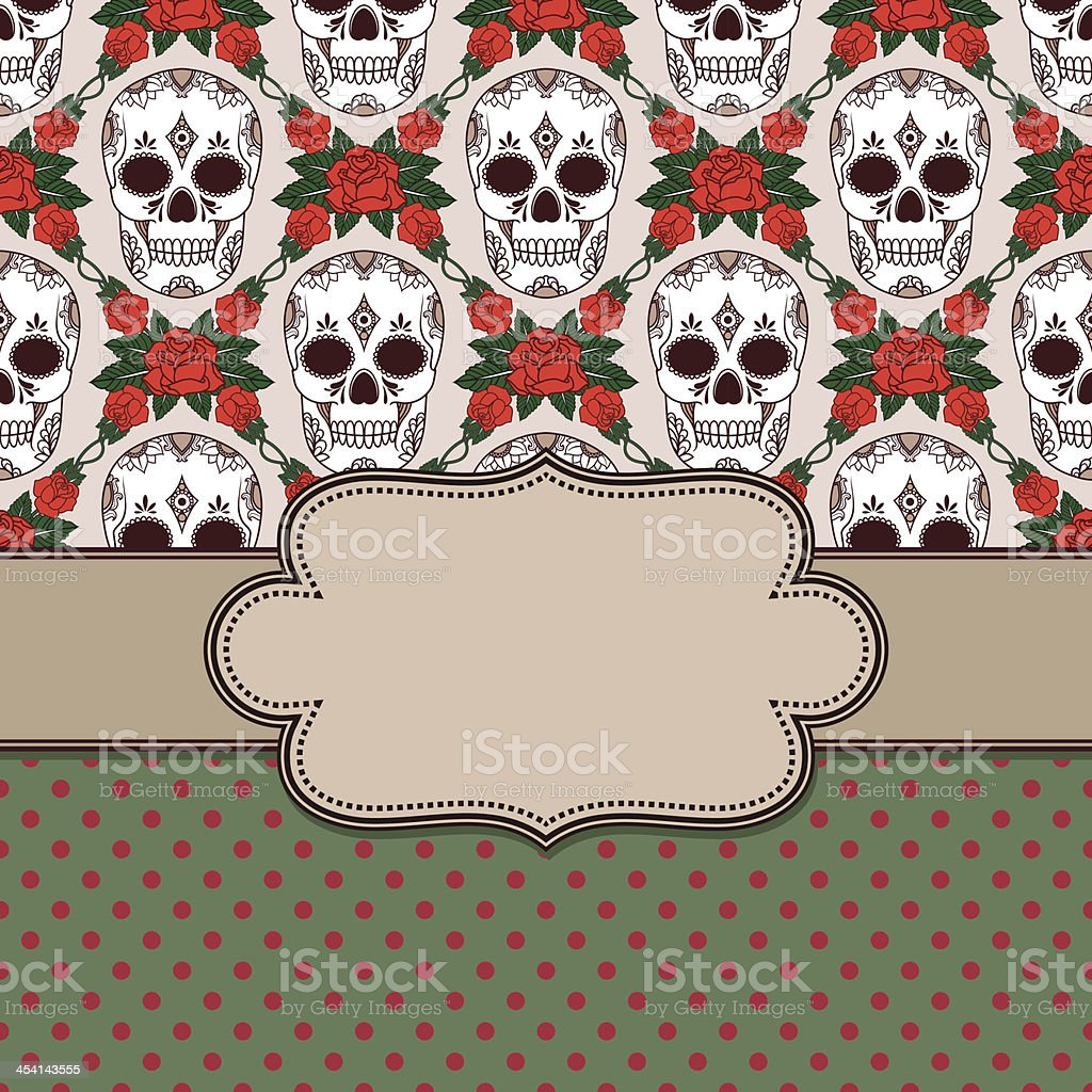 Vector vintage frame with skulls royalty-free vector vintage frame with skulls stock vector art & more images of abstract