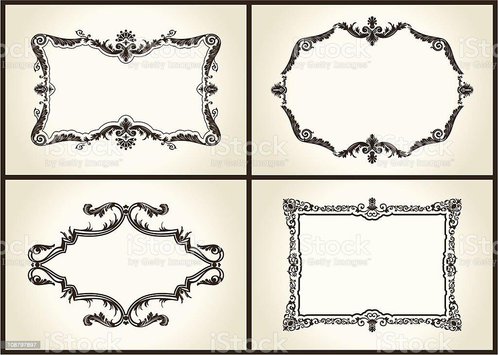 Vector Vintage Marcos Retro Diseño Royal - Arte vectorial de stock y ...