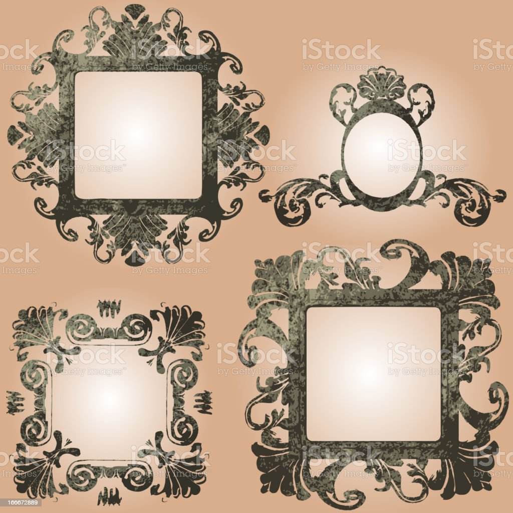vector vintage frames set royalty-free vector vintage frames set stock vector art & more images of ancient