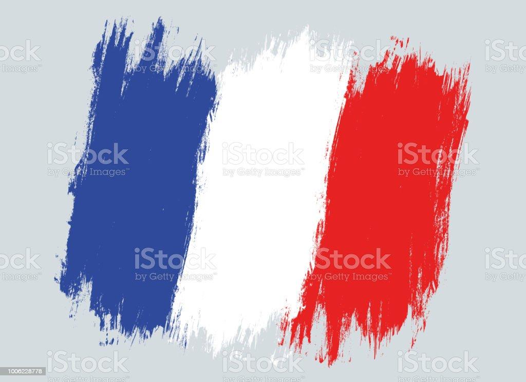 Vektör Vintage Fransa Bayrağı Stok Vektör Sanatı Abdnin Daha