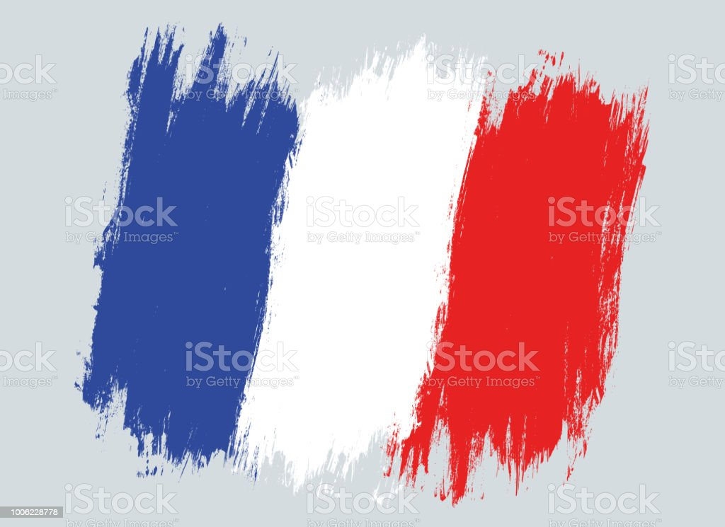 Vektor-Jahrgang Frankreich Flagge. – Vektorgrafik