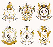 Vector vintage heraldic Coat of Arms designed in award style.