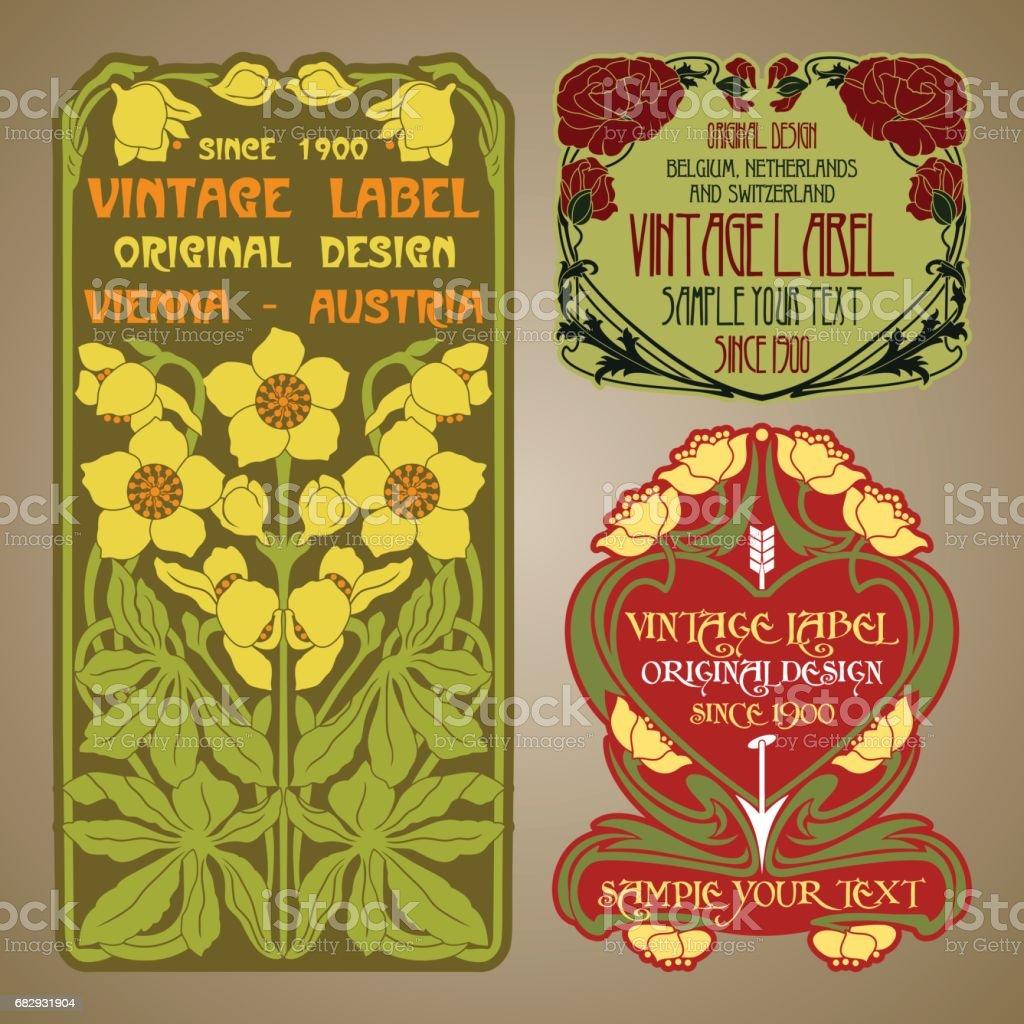 vector vintage items: label Art Nouveau royalty-free vector vintage items label art nouveau stock vector art & more images of antique