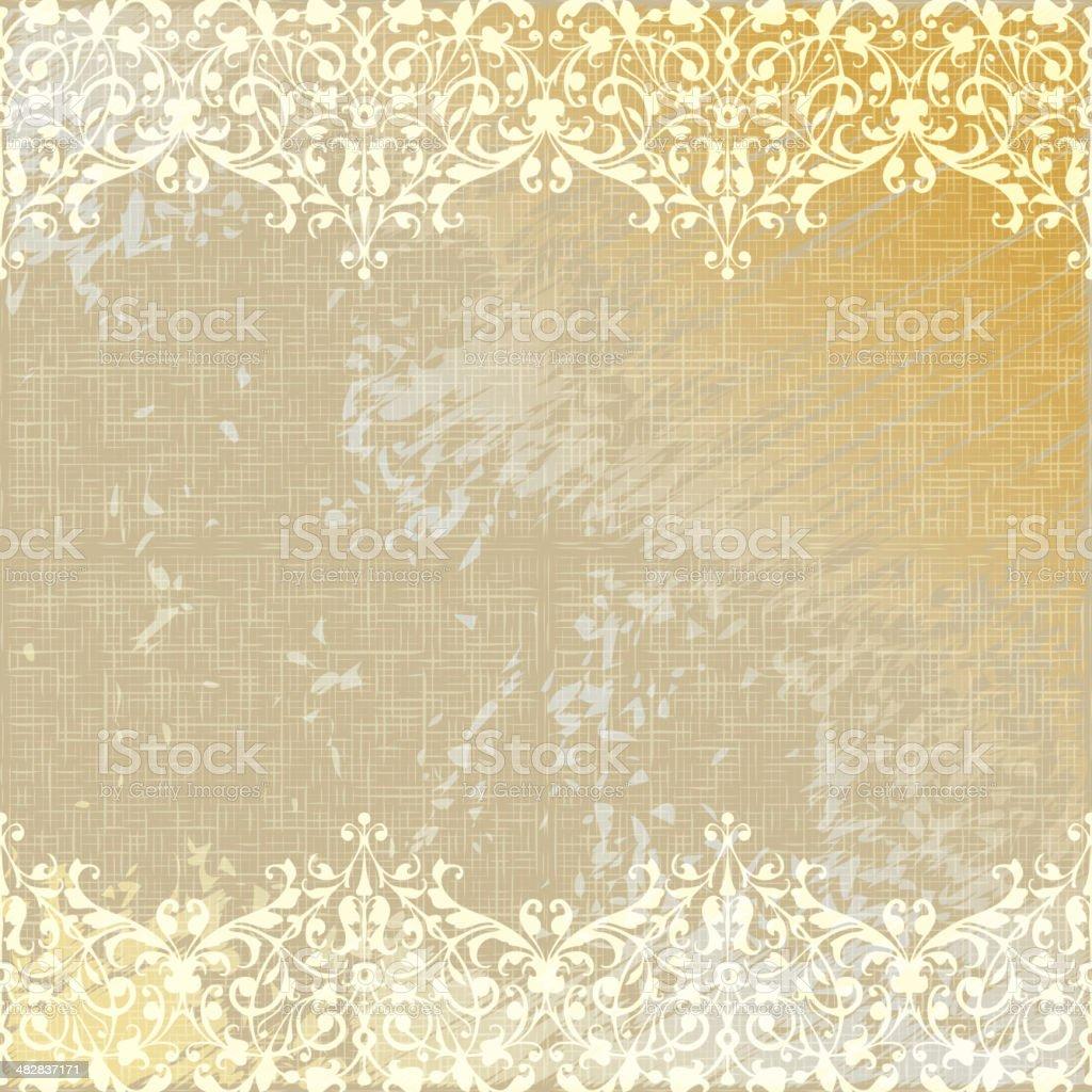 vector vintage linen canvas burlap floral background vector art illustration