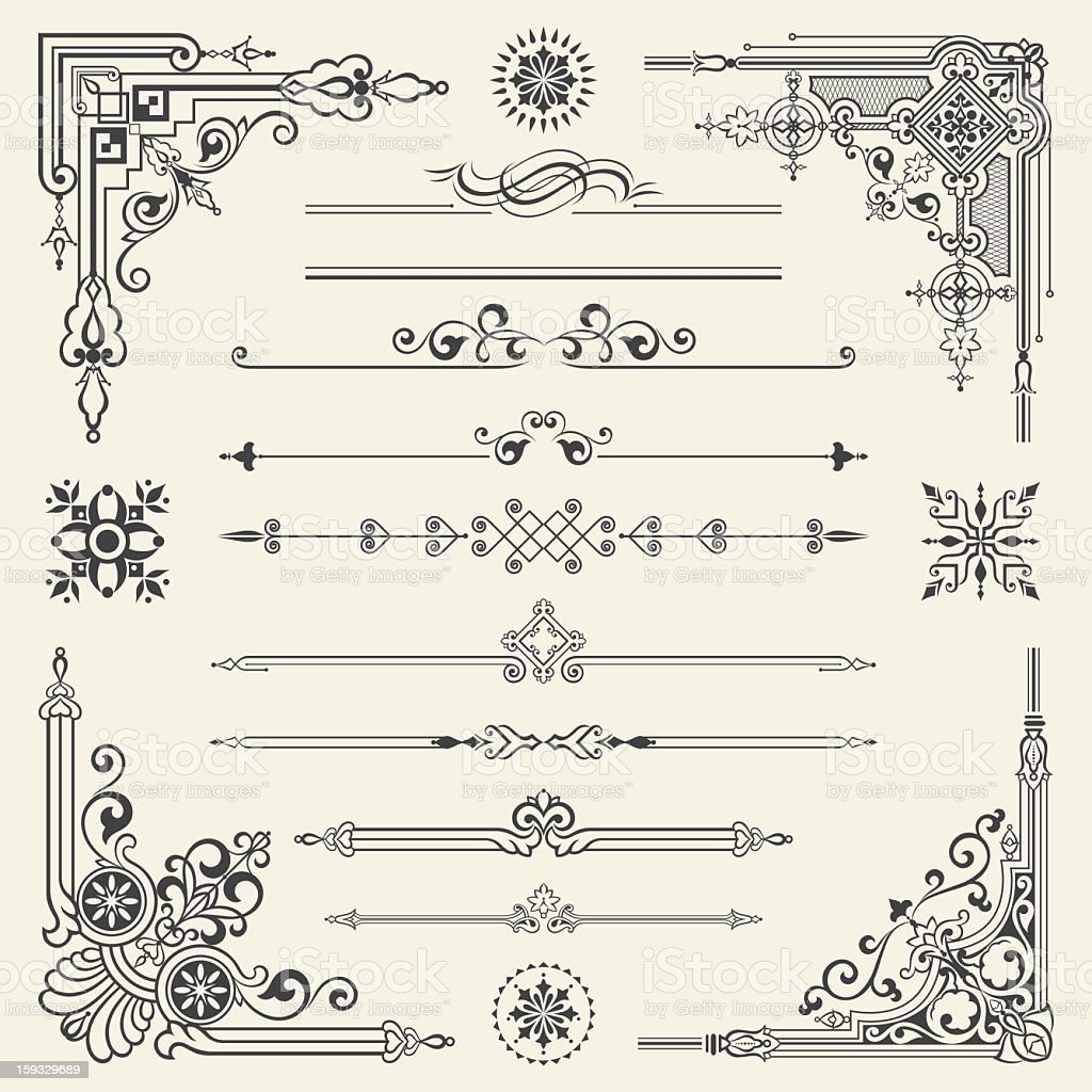 Vector vintage ornament design element royalty-free vector vintage ornament design element stock vector art & more images of angle