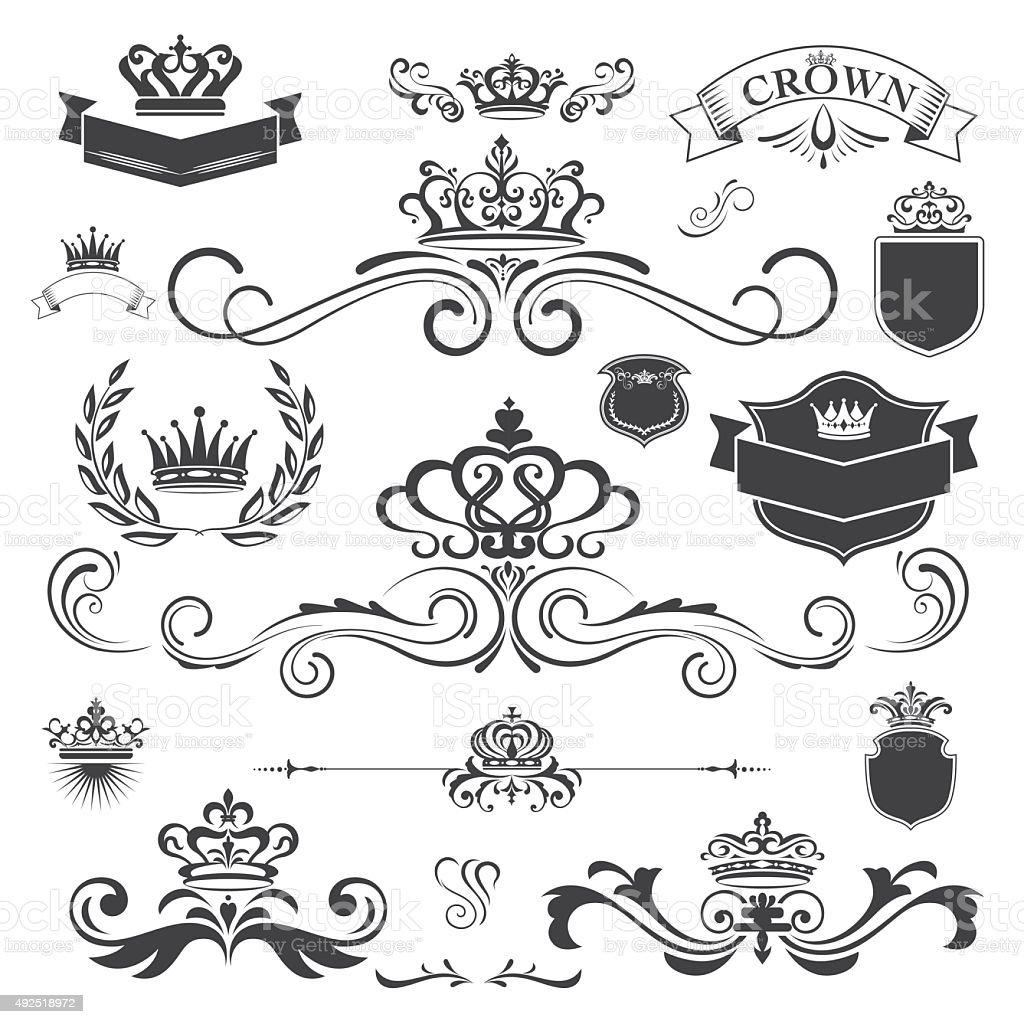 Vettoriale Vintage Con Corona Elemento Di Design Decorazione Immagini Vettoriali Stock E Altre Immagini Di 2015 Istock