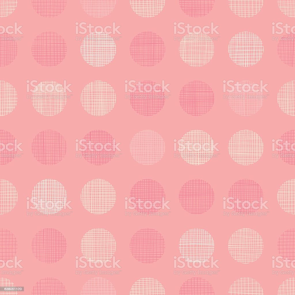 Vector Vintage Pastel Salmon Pink Baby Girl Dots Circles Seamless vector art illustration
