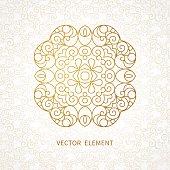 Vector vintage pattern in Eastern style.