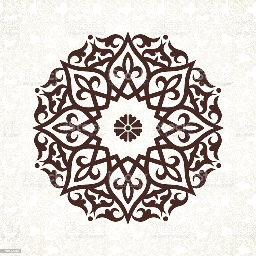 Vector vintage pattern in Victorian style. vector art illustration