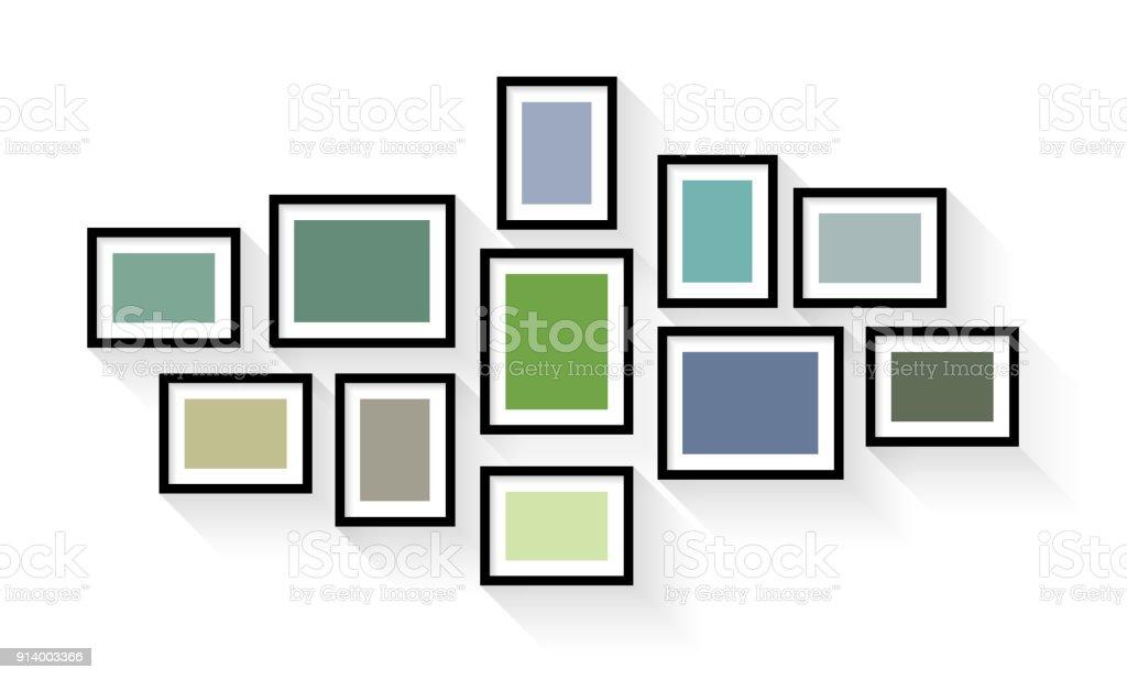 Cadre de photo vintage Vector définie isolé sur fond blanc - Illustration vectorielle