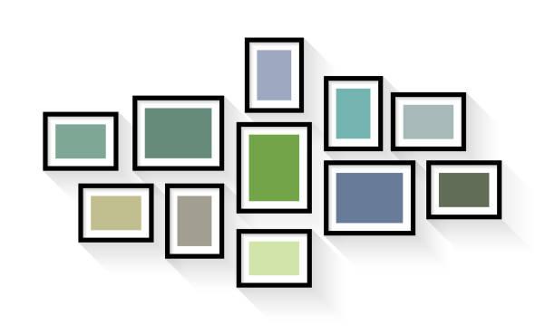 ベクトル ヴィンテージ額縁セットで孤立した白い背景 - 美術館点のイラスト素材/クリップアート素材/マンガ素材/アイコン素材