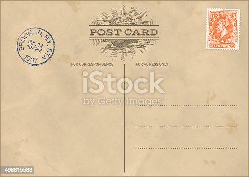 vintage postcard template