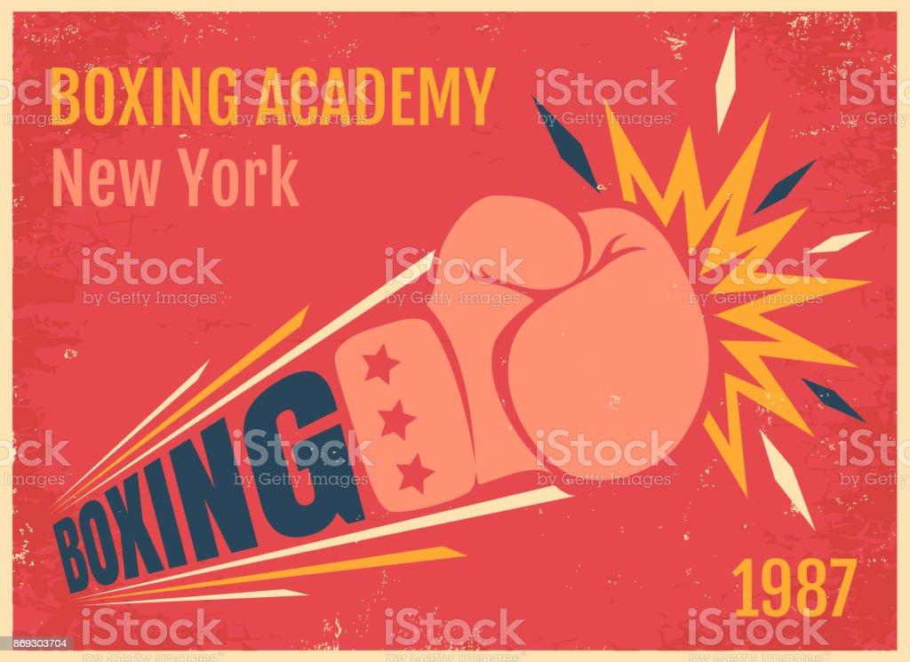ボクシングのベクトル ビンテージ ポスター ベクターアートイラスト