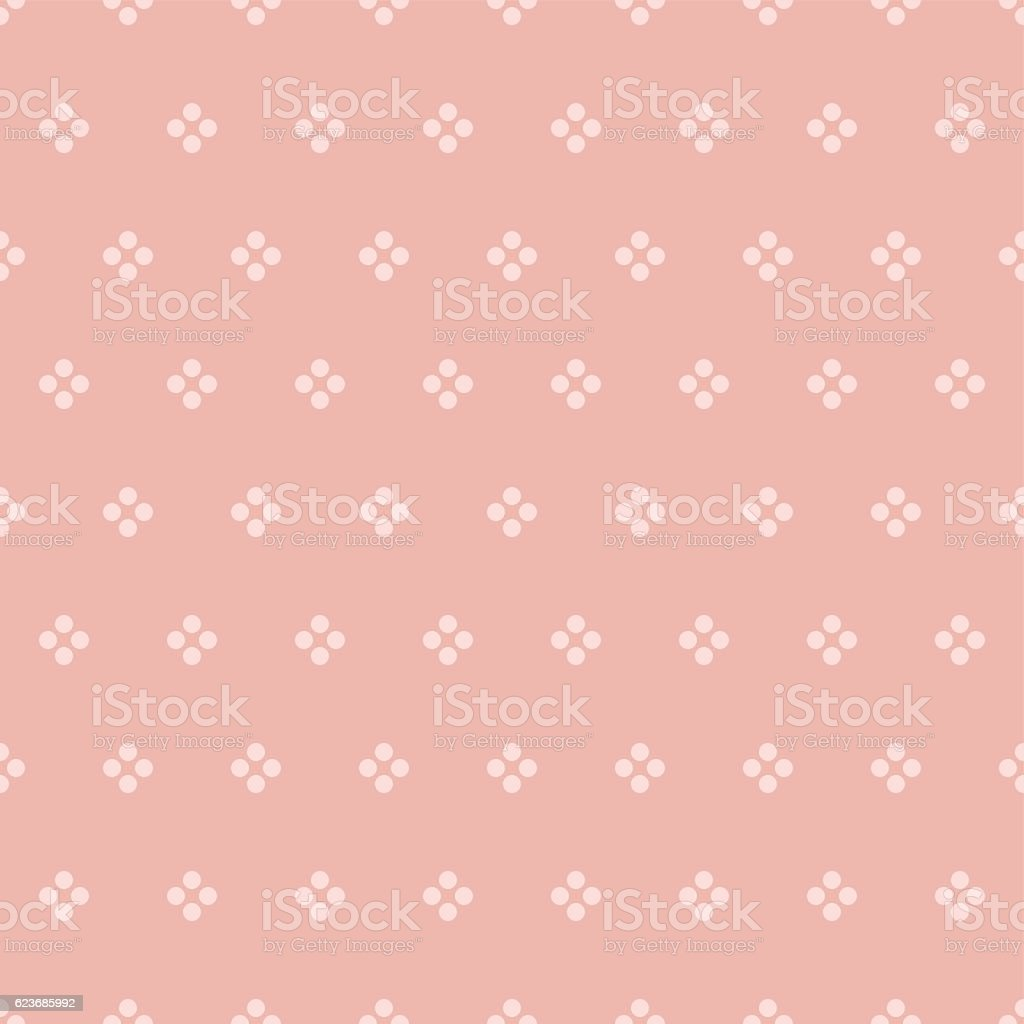 Vector vintage seamless simple background texture with circles vector art illustration
