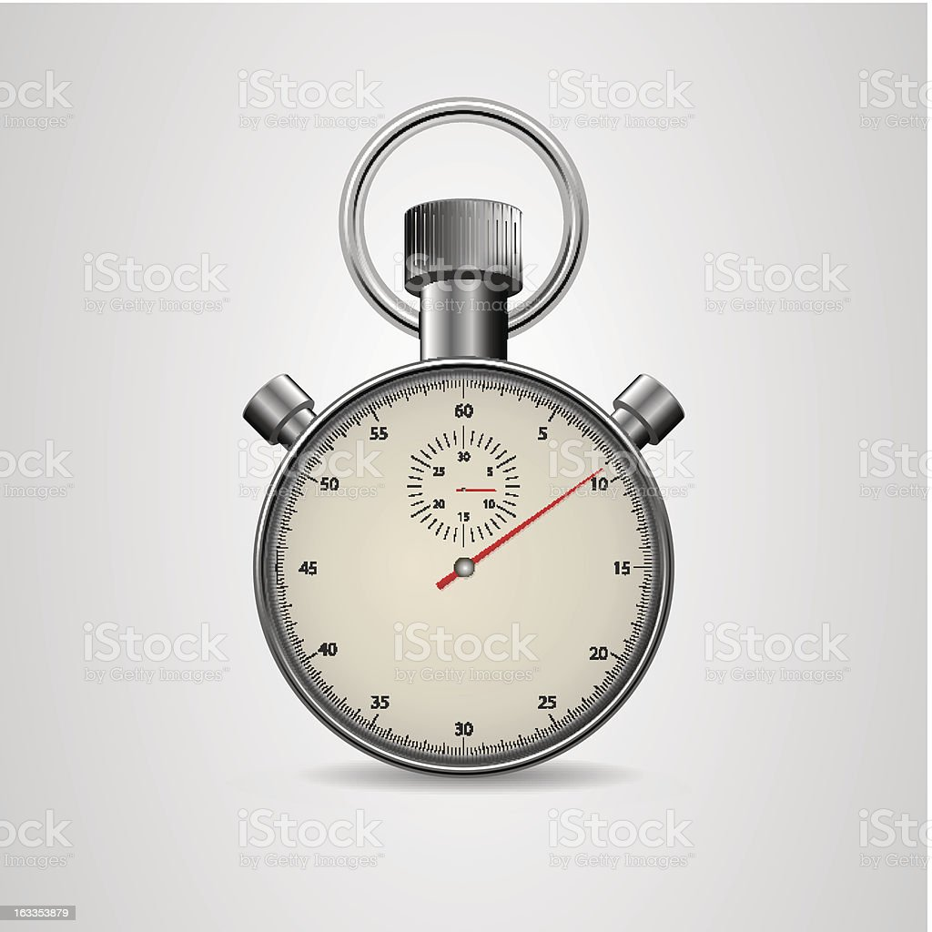 Vector Vintage Stopwatch in high detail royalty-free stock vector art