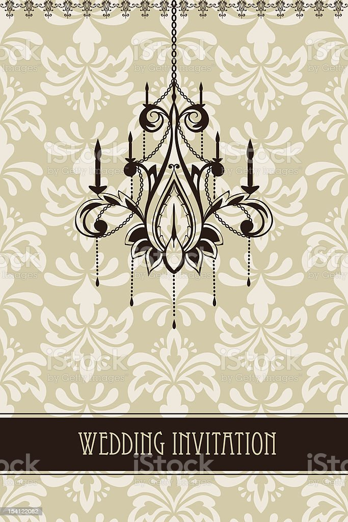 Vector Vintage Wedding Invitation royalty-free vector vintage wedding invitation stock vector art & more images of backgrounds