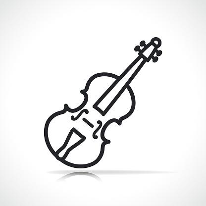Vector violin line icon design