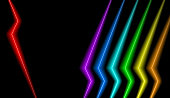 Beautiful and Colourful Vector Illustration with Vivid Neons Spectrum Colours
