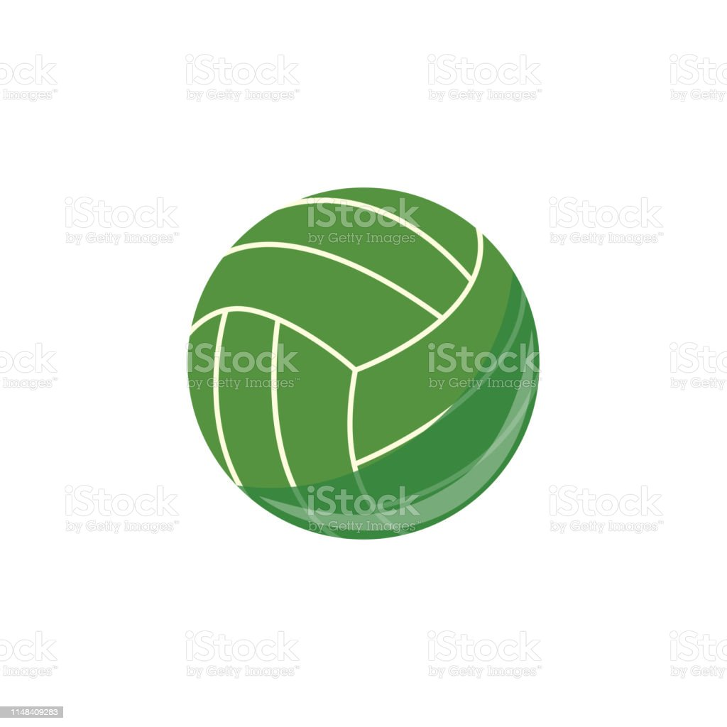 Vector beach volley ball simple icon. Sport equipment, game play...