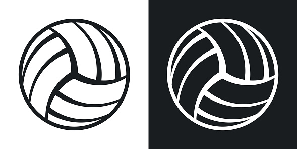 Vector volleyball ball icon. Two-tone version