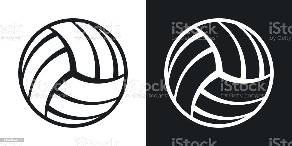 バレーボールのボールのアイコンをベクトルします。ツートン カラー バージョン ベクターアートイラスト