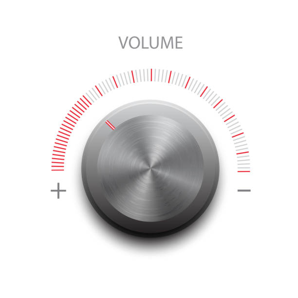 Vector volume button volume sound and vector button minimum wage stock illustrations