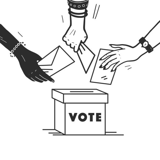 3 842 Drawing Of Election Campaign Illustrations Clip Art Istock