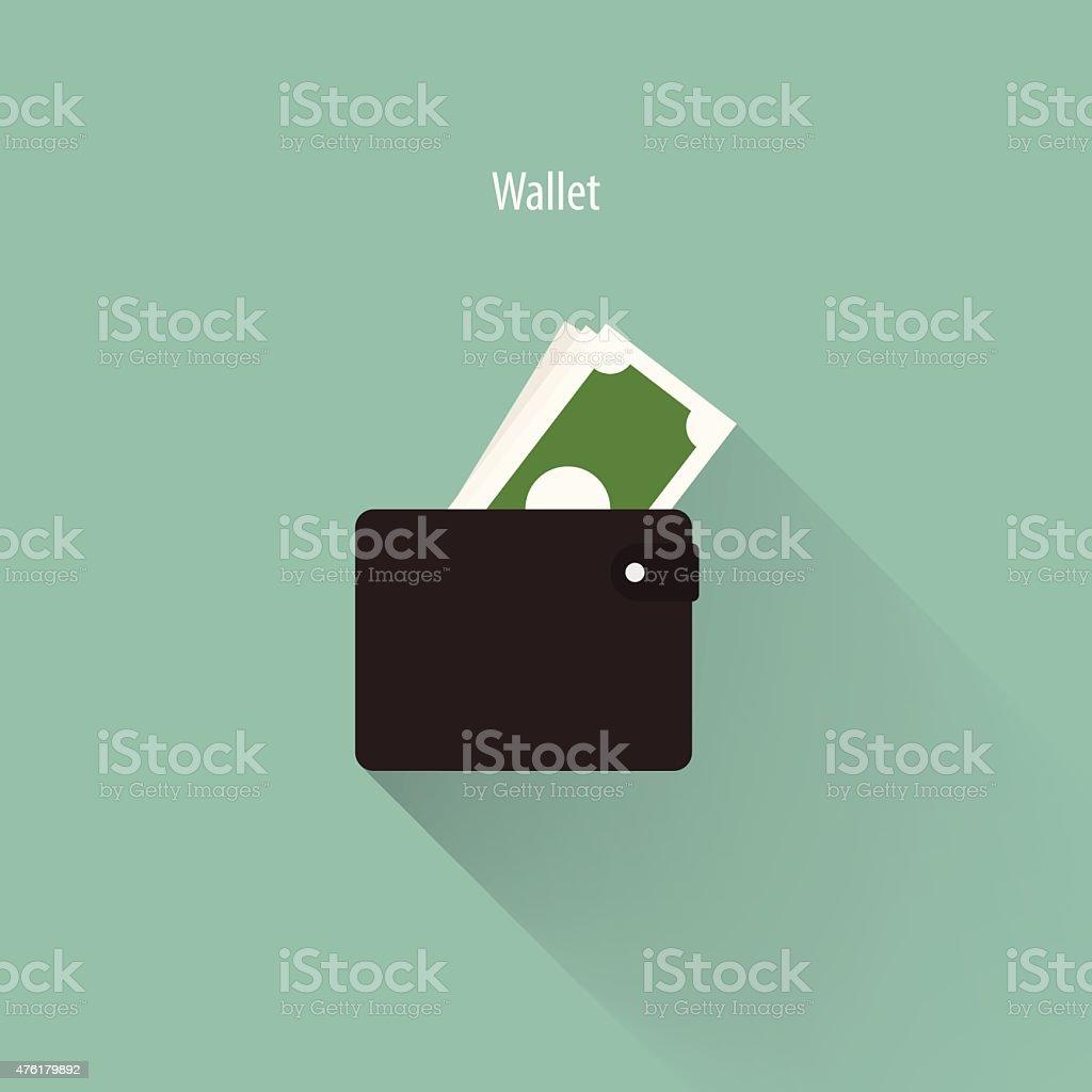 Vector Wallet icon. vector art illustration