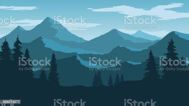 Mountain Vector Art Graphics Freevector Com