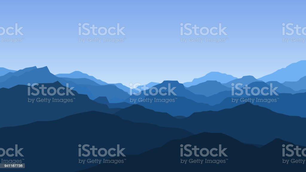 Fond Decran De Vector Avec Un Paysage Montagnes Vecteurs Libres De Droits Et Plus D Images Vectorielles De Alpinisme Istock