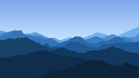 Vector Wallpaper With A Landscape Mountains Stock Illustration