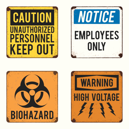 vector warning and safety signs collection