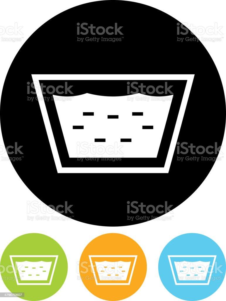 Vector washbowl icon vector art illustration