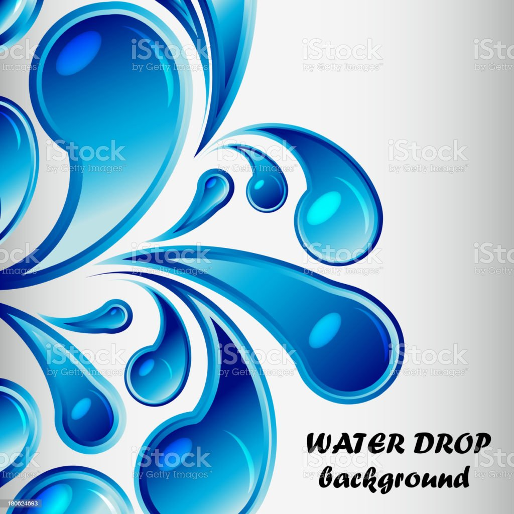 Vector water drop background royalty-free stock vector art