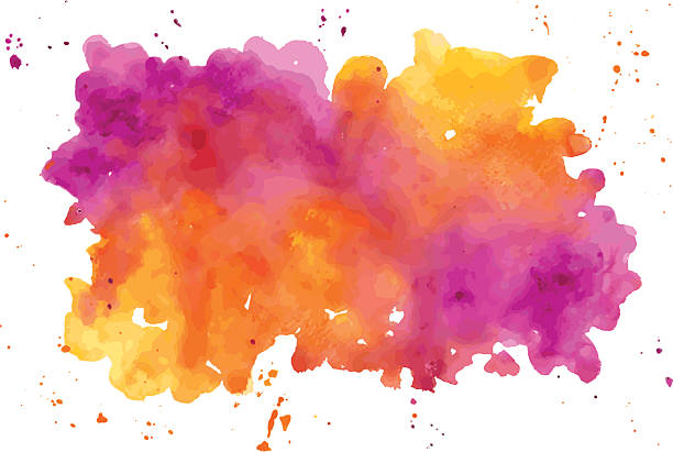 vector watercolor abstract hand painted background - watercolor background stock illustrations, clip art, cartoons, & icons