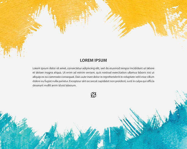 Vector watercolor background for poster, card, banner, brochure design. Colorful brush strokes with copyspace. book patterns stock illustrations