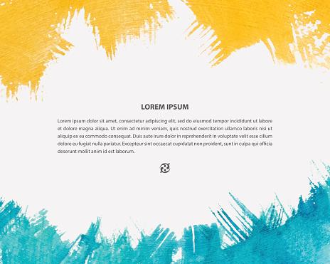 Vector Watercolor Background For Poster Card Banner Brochure Design-vektorgrafik och fler bilder på 2015