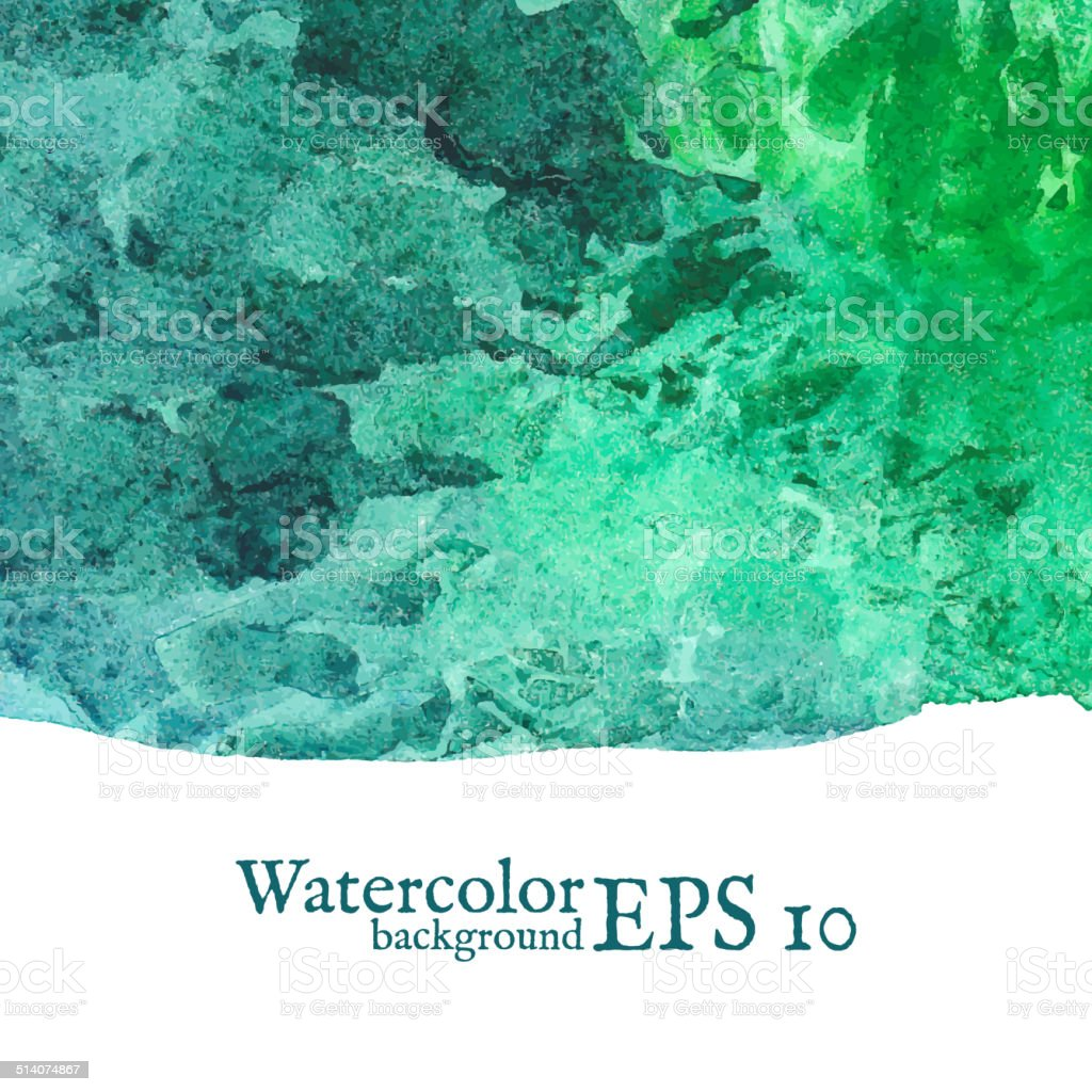 Vector watercolor background. Painting. vector art illustration